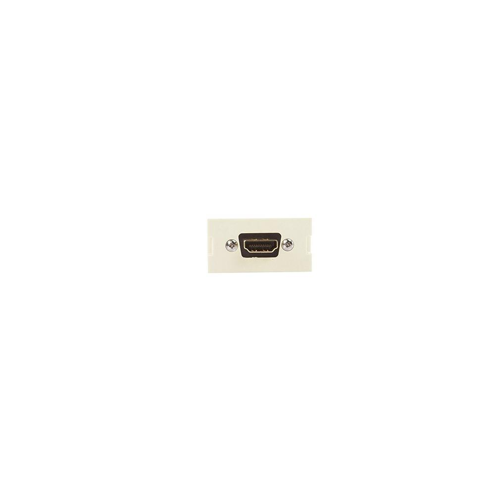 Hdmi Outlet Leviton Hdmi Feedthrough Multimedia Outlet System Mos Module Light Almond