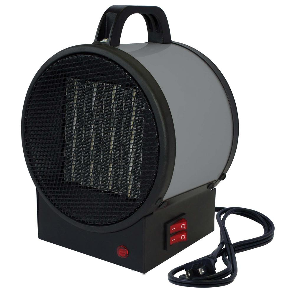 King Electric Garage Heater King 1 500 Watt 120 Volt Small Portable Utility Heater In Gray