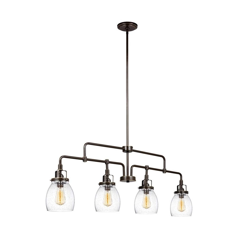 Pendant Lighting Sea Gull Lighting Belton 40 75 In W 4 Light Heirloom Bronze Kitchen Island Lights