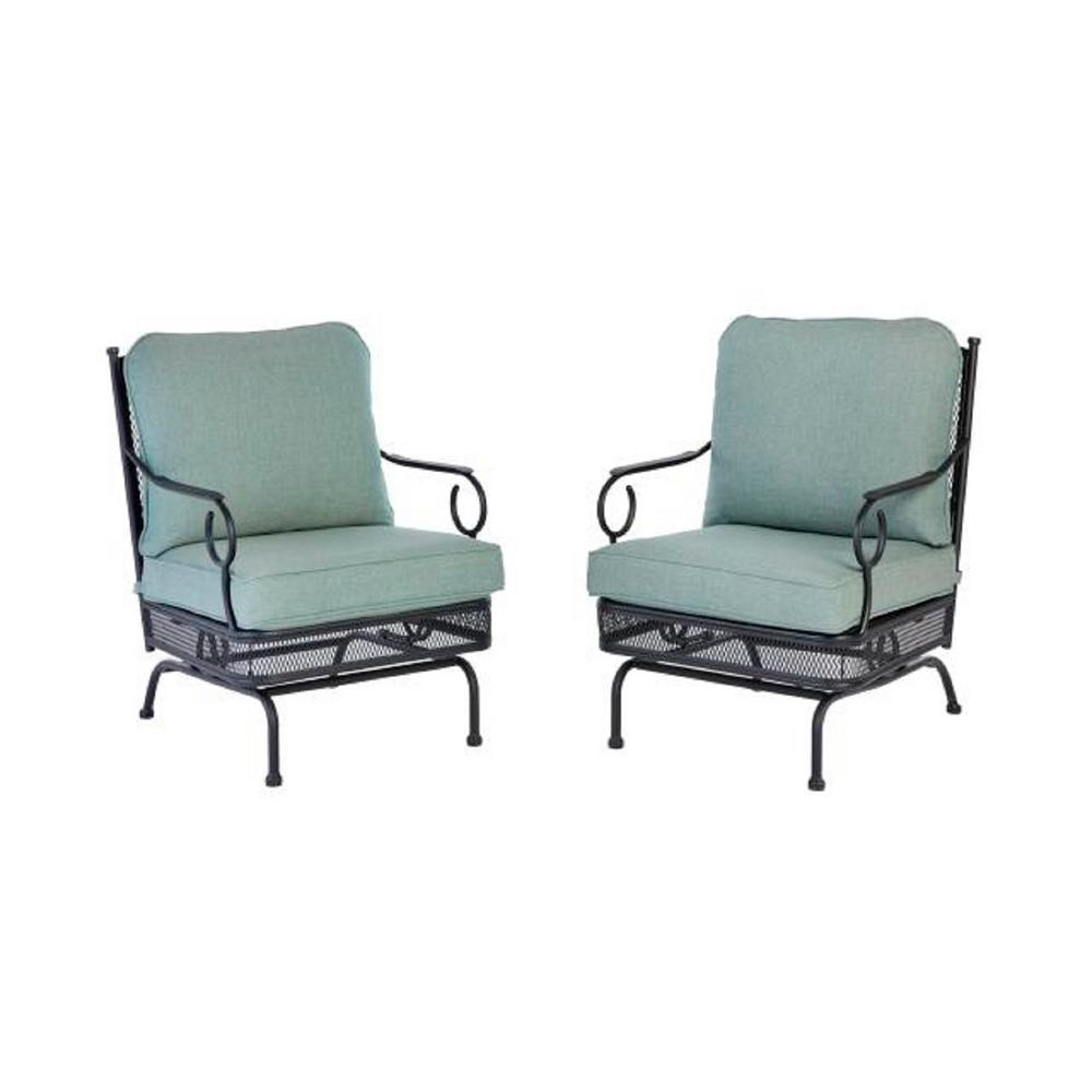 Outdoor Lounge Hampton Bay Amelia Springs Rocking Outdoor Lounge Chair With Spa Cushions 2 Pack
