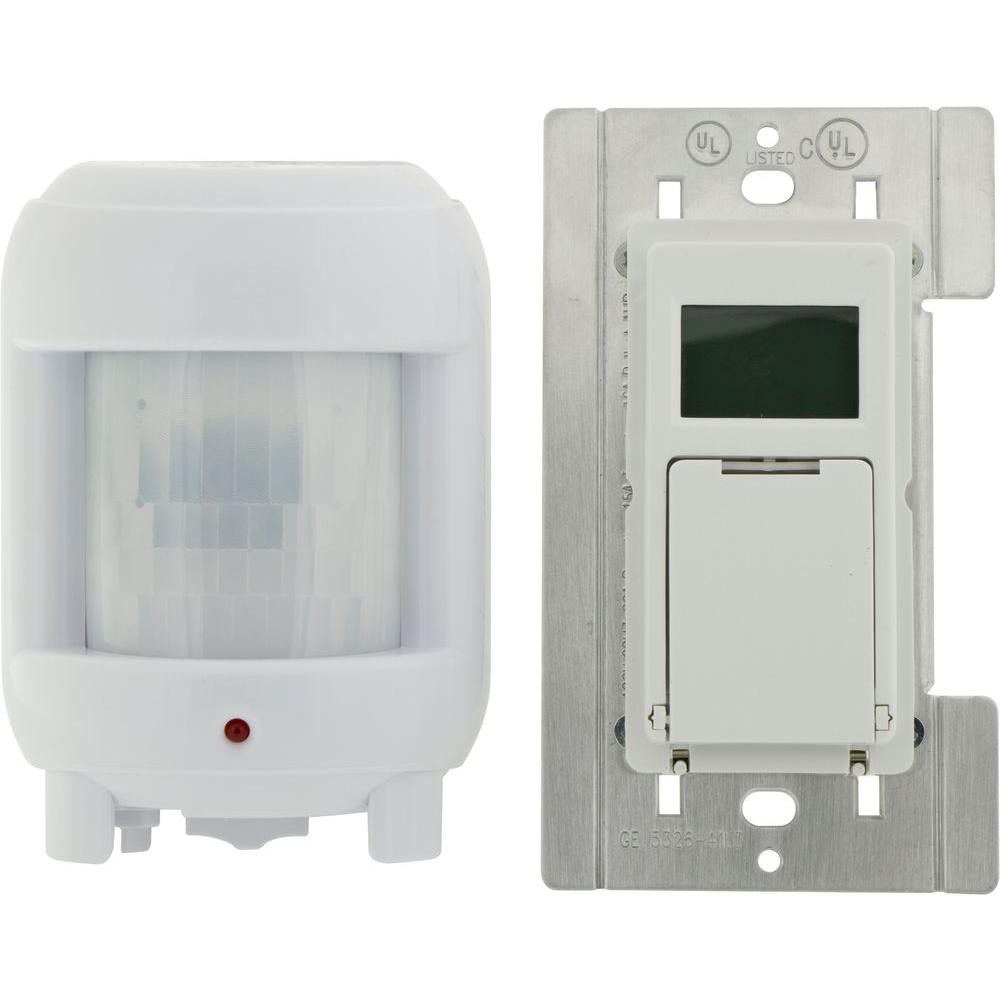 Outdoor Light Timer Switch Defiant 8 Amp 7 Day Indoor In Wall Sunsmart Digital Timer Switch With Motion Sensor White