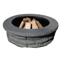 Nantucket Pavers Ledgestone 47 in. Concrete Fire Pit Ring ...