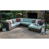 AE Outdoor Dawson 7-Piece Patio Sectional Seating Set with ...