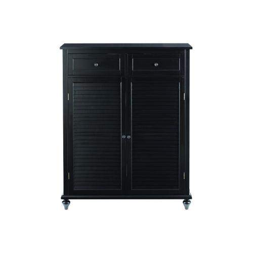 Medium Of Black Storage Cabinet
