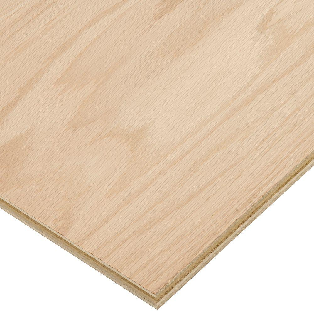 Oak Plywood Columbia Forest Products 3 4 In X 4 Ft X 8 Ft Purebond Red Oak Plywood