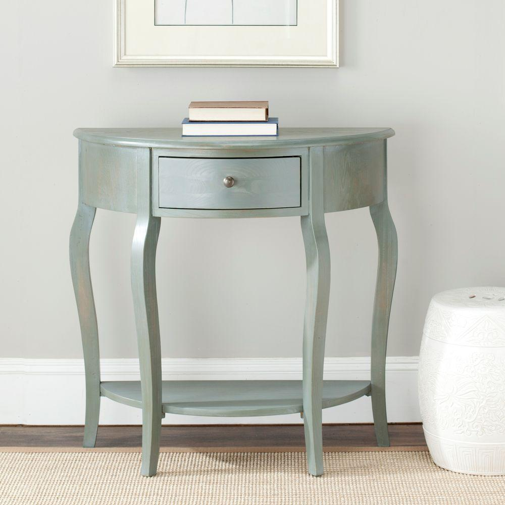Console Table But Jan Demilune French Grey Storage Console Table