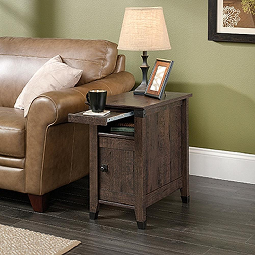End Table For Living Room Details About Sauder Carson Forge Coffee Oak Storage Space Side End Table Stylish Furniture
