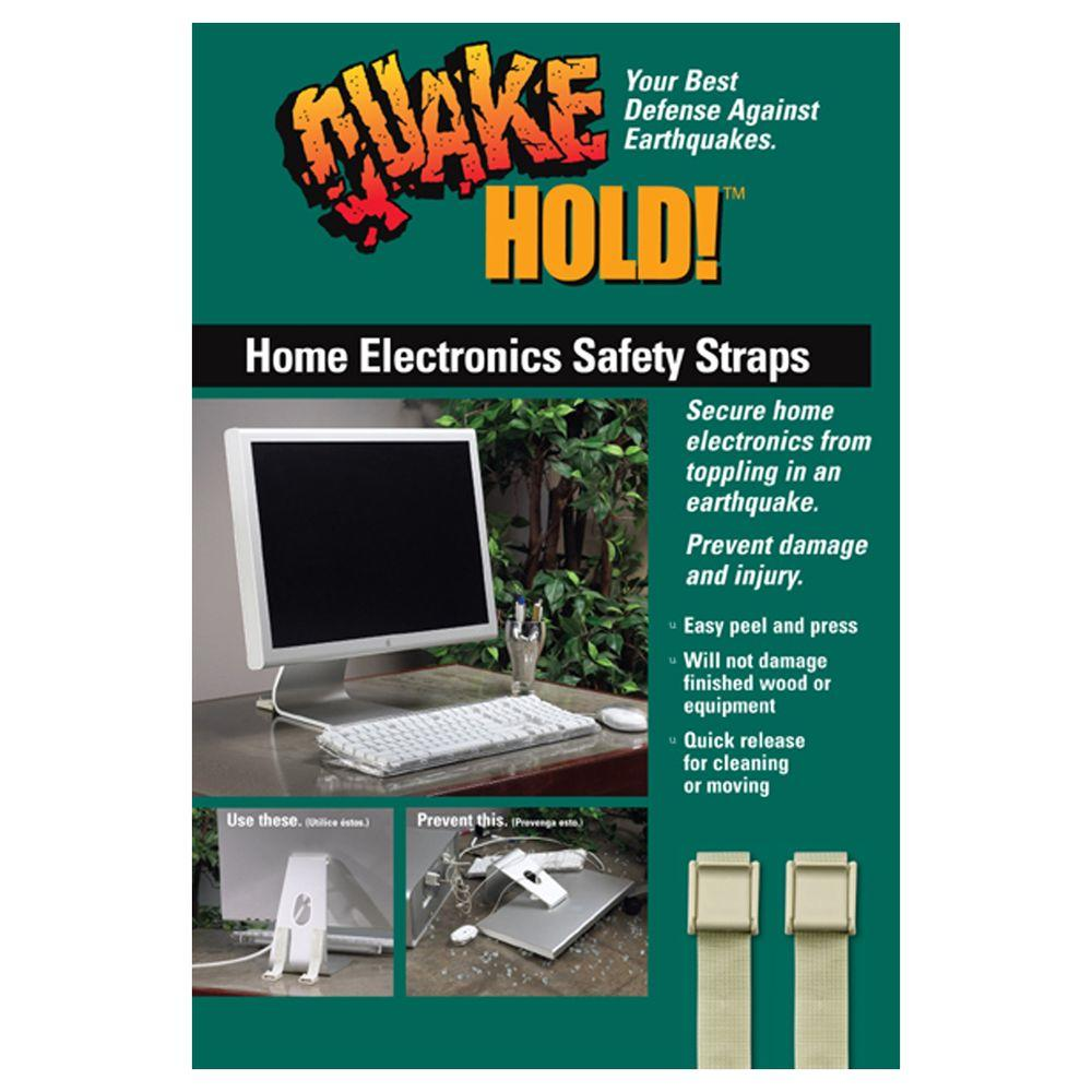 In Home Electronics Quakehold Multi Use Electronic Safety Straps Beige Computer