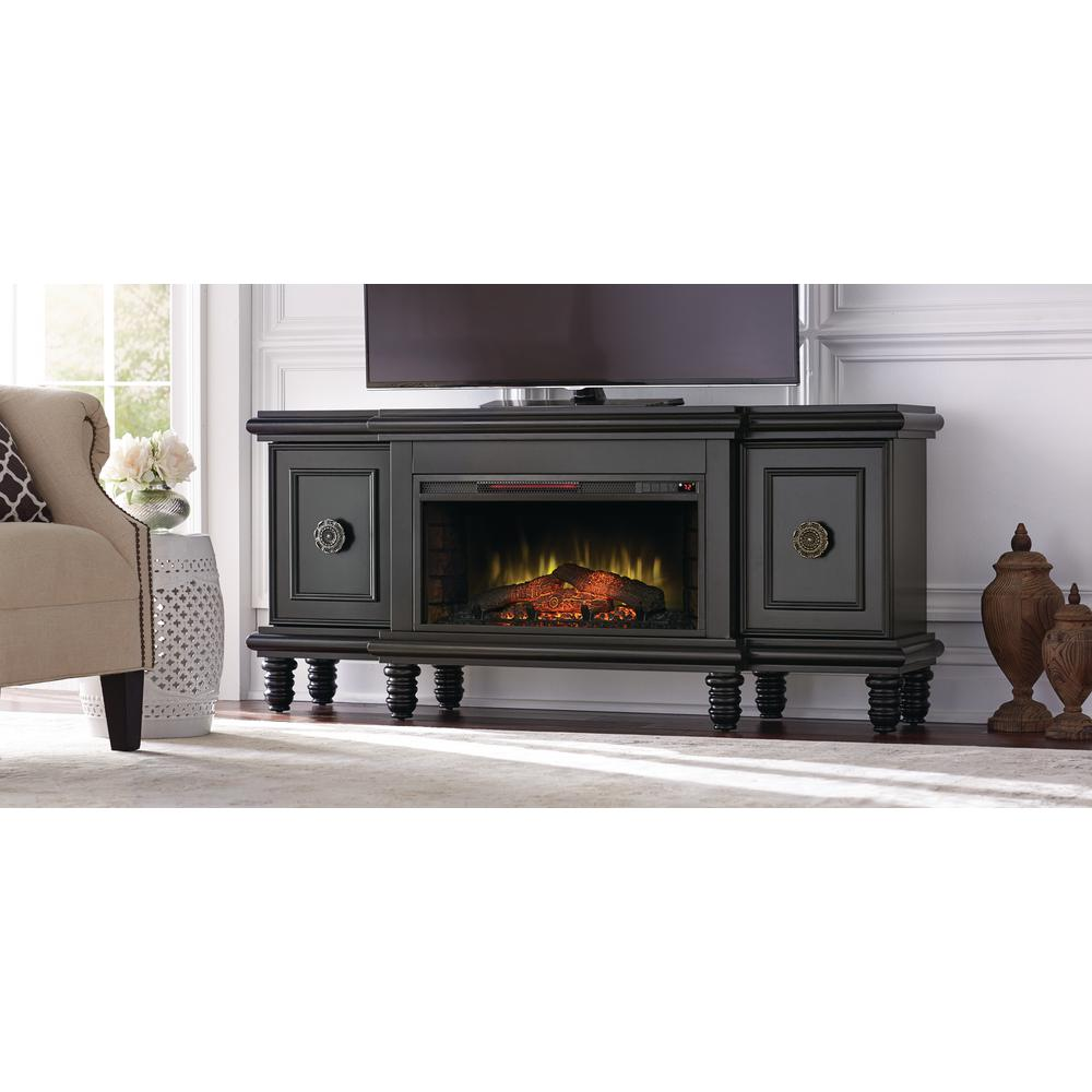 Fireplace Tv Combo Home Decorators Collection Athens 63 In Tv Stand With Bluetooth Electric Fireplace In Black