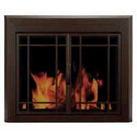 Pleasant Hearth Enfield Small Glass Fireplace Doors-EN ...