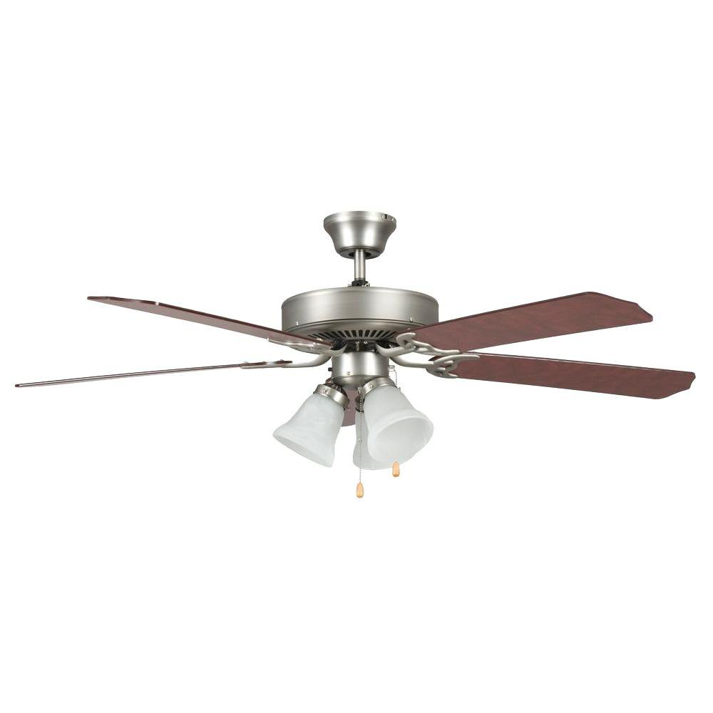 Double Fan Ceiling Fan With Light Concord Fans Heritage Home Series 52 In Indoor Satin Nickel Ceiling Fan