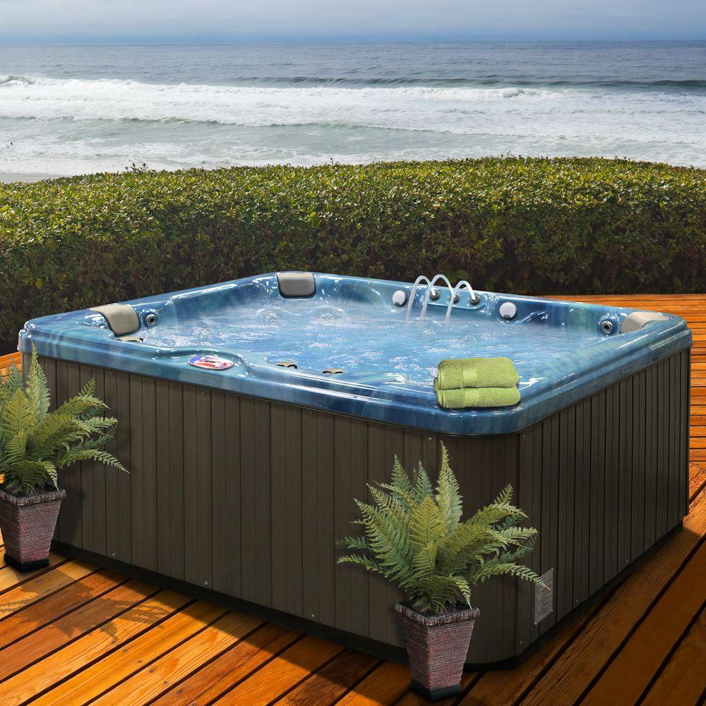 Outdoor Whirlpool Cheap Hot Tubs Hot Tub Spas Home Saunas The Home Depot