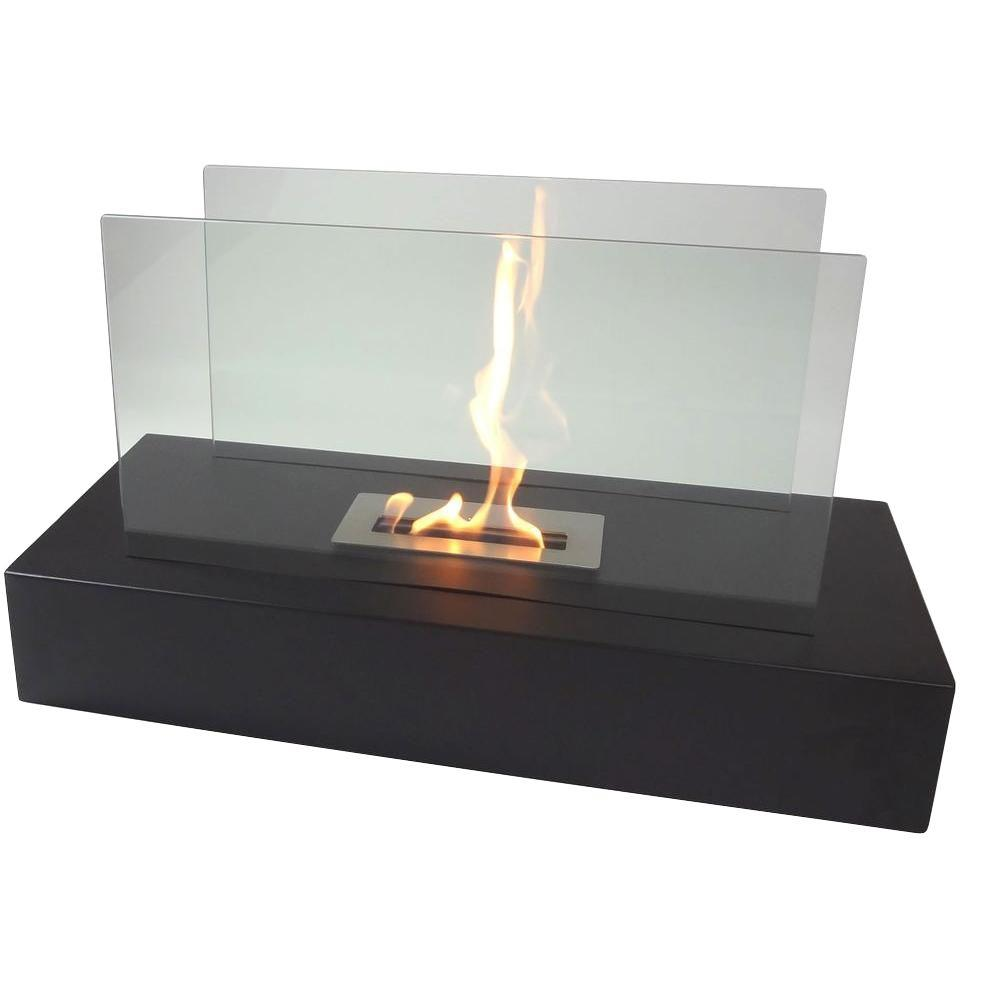 Alcohol Fuel Fireplace Nu Flame Fiamme 31 5 In Freestanding Decorative Bio Ethanol Fireplace In Matte Black