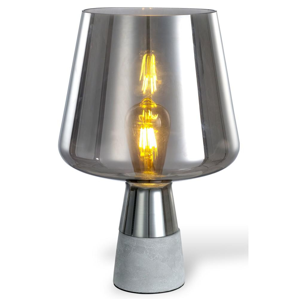 Tischlampe Beton Ledpax Technology Chico 12.5 In. Amber And Grey Table Lamp