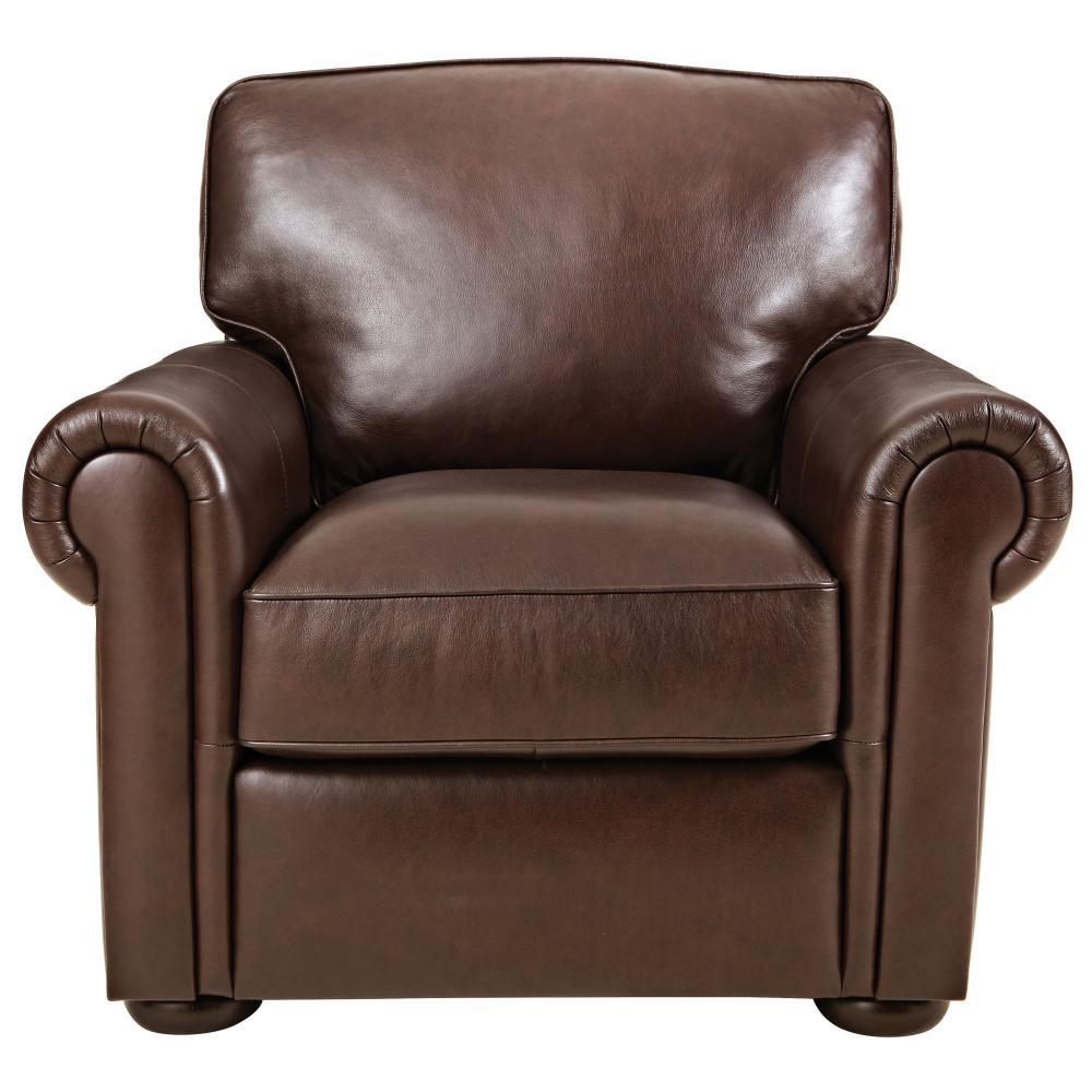 Leather Lounge Home Decorators Collection Alwin Chocolate Italian Leather Lounge Chair