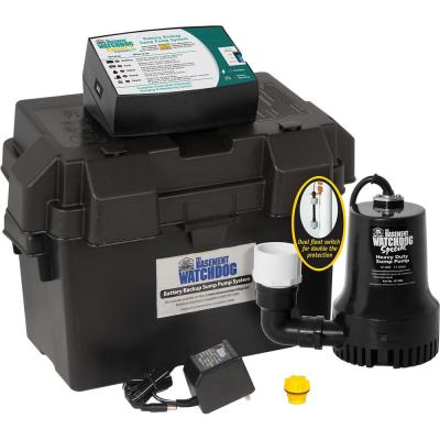 Superior Pump 12-Volt Submersible Emergency Battery Backup Sump Pump