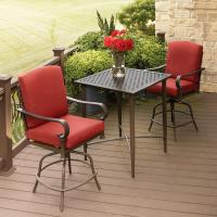 Hampton Bay Oak Cliff 3-Piece Metal Outdoor Balcony Height ...