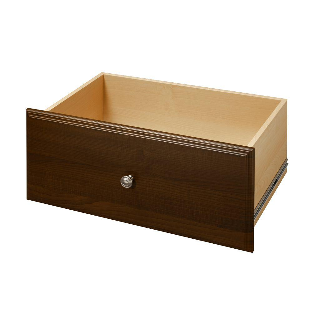 Living24 Möbel Martha Stewart Living 24 In X 12 In Espresso Deluxe Wood Drawer Kit