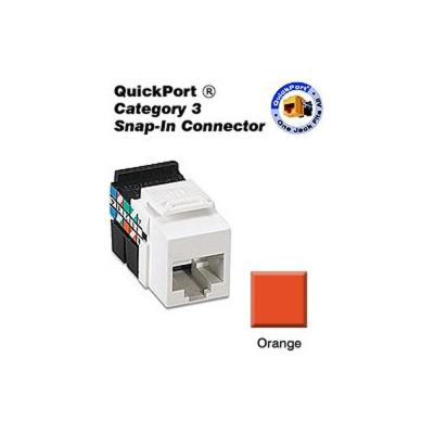Commercial Electric Category 6 Jack - Orange-5016-OR - The Home Depot
