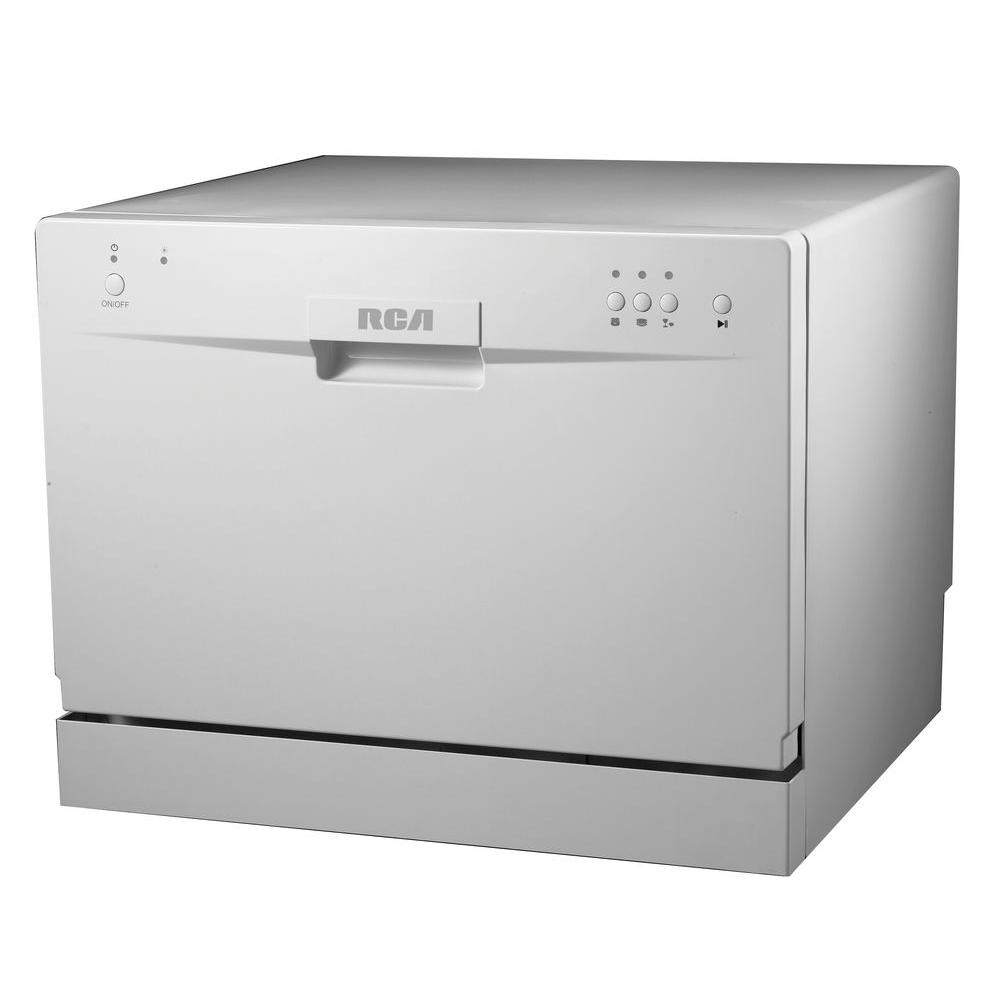 RCA Electronic Countertop Dishwasher in White with 6 Place Setting Capacity-RDW3208 - The Home Depot