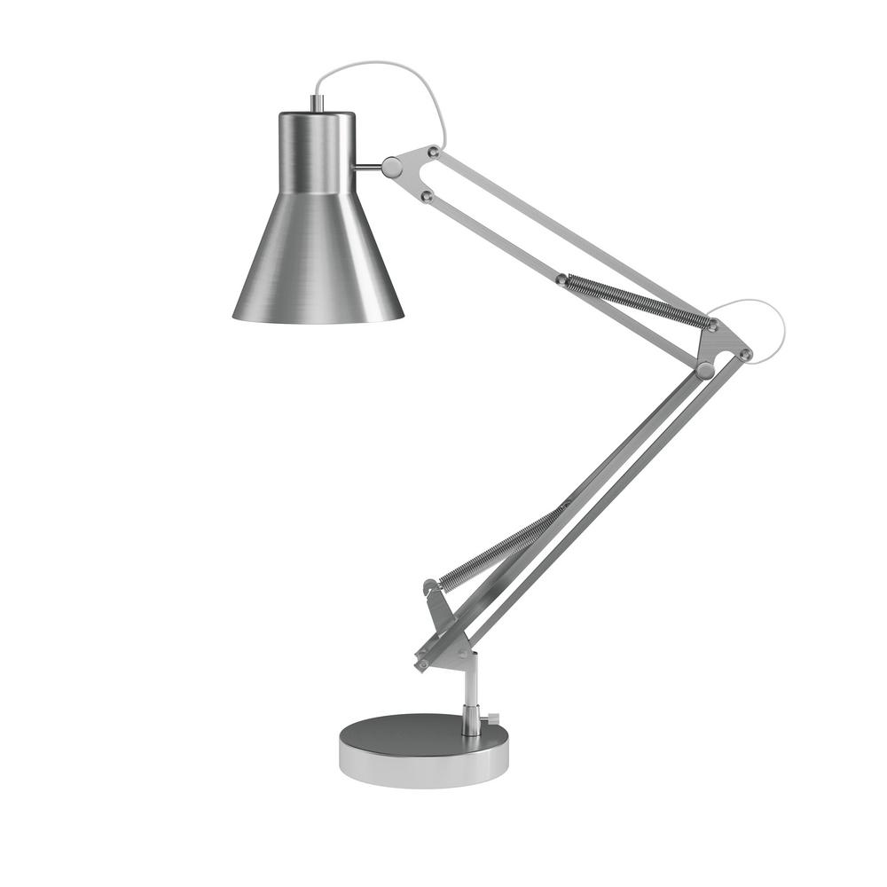 Desk Lamp Lavish Home 41 In Brushed Steel Architect Desk Lamp With Adjustable Swing Arm