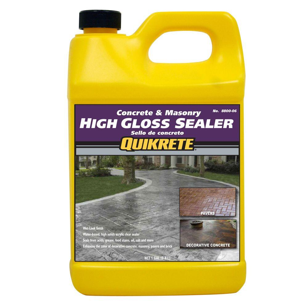 Quikrete 1 Gal High Gloss Concrete Sealer 8800 06 The Home Depot