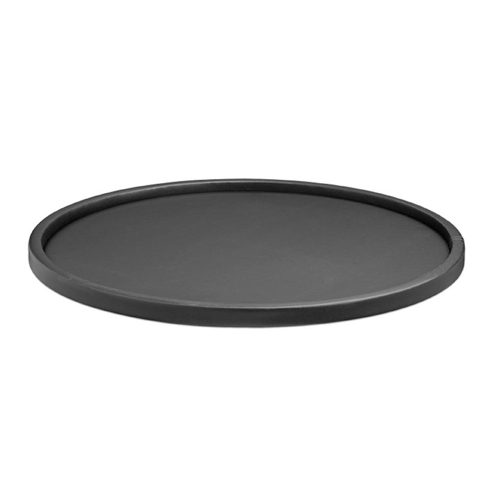 Black Serving Tray Contempo 14 In Round Serving Tray In Black