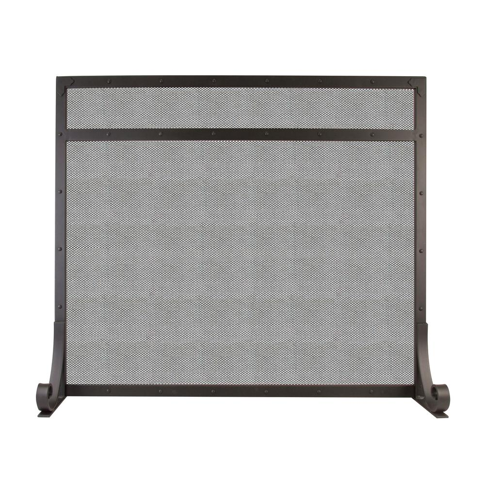 Fireplace Screen Home Depot Pleasant Hearth Selene 1 Panel Fireplace Screen In Black