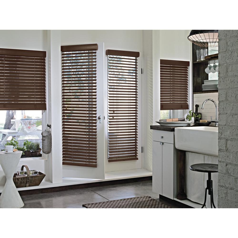 Wooden Door Blinds Hunter Douglas Wood Blinds Blinds The Home Depot