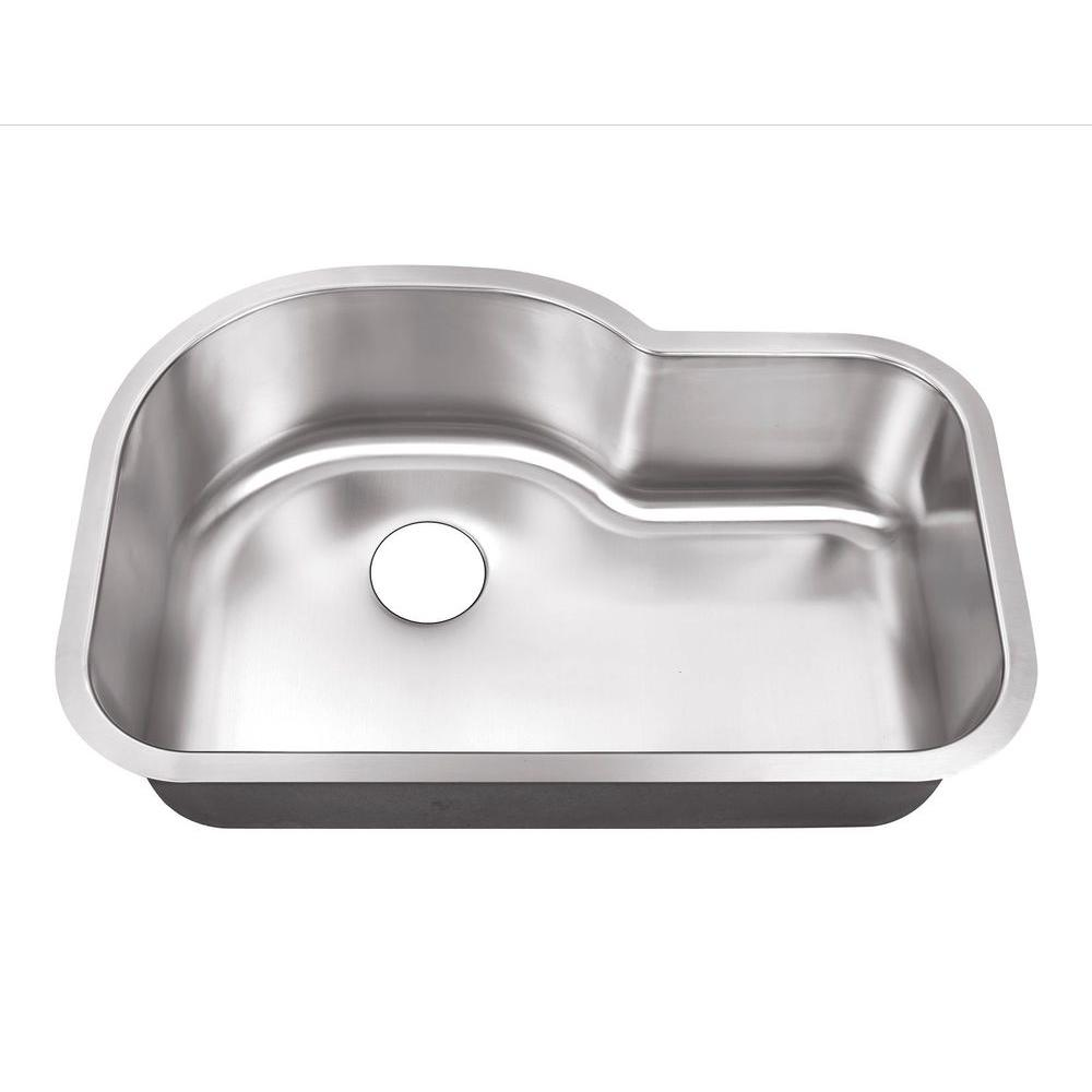 Belle Foret Farmhouse Sink Undermount Stainless Steel 32 In Hole Single Bowl Kitchen Sink