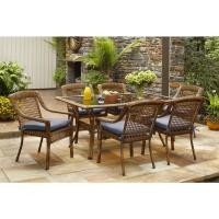 Hampton Bay Spring Haven Brown 7-Piece All-Weather Wicker ...