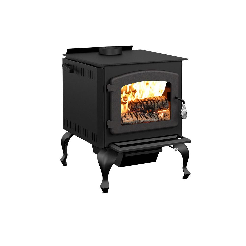 Wood Burning Fireplace Heater Blower Drolet Legende Ii 26 In Wood Stove 2100 Sq Ft With Blower Epa Certified