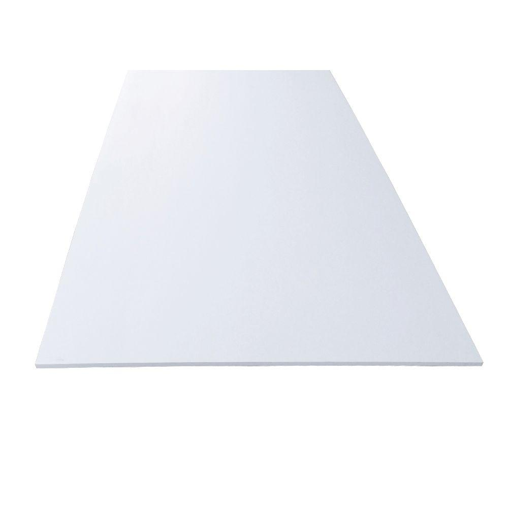 Unbranded 1 2 In X 48 In X 96 In White Pvc Sheet Panel 190360 The Home Depot