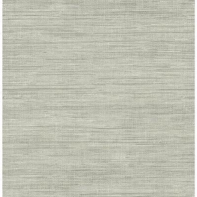 Brewster Island Grey Faux Grasscloth Wallpaper-FD23285 - The Home Depot