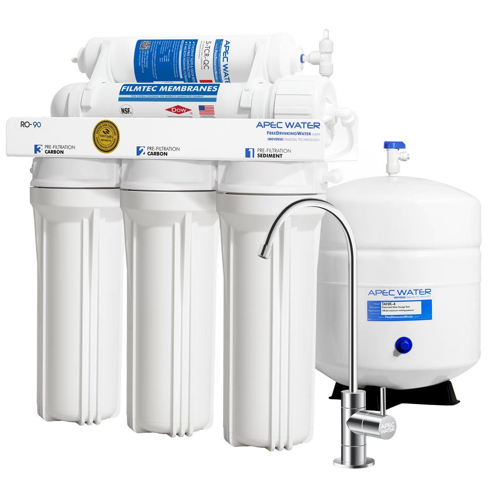 Reverse Osmosis Drinking Water System Apec Water Systems Ultimate Premium Quality Wqa Certified 90 Gpd Under Sink Reverse Osmosis Drinking Water Filter System