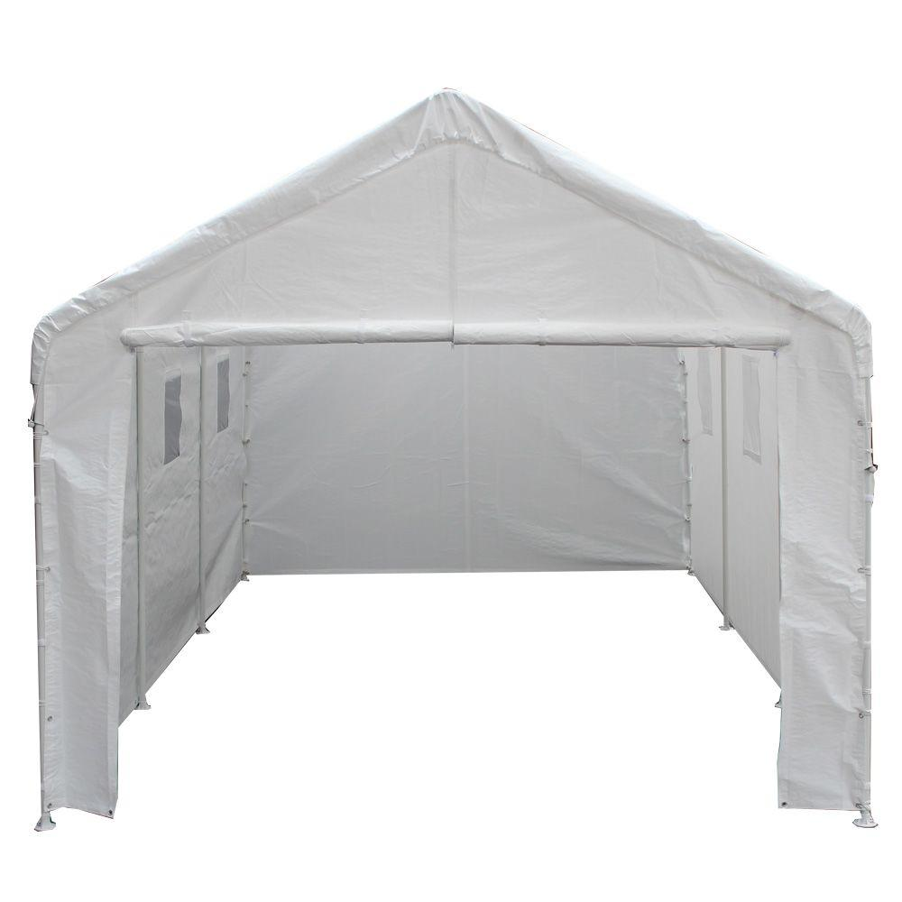 Garage Awning Extension 10 Ft W X 20 Ft D Universal Enclosed Canopy