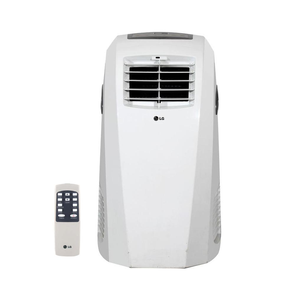 Portable Ac Home Depot Lg Electronics 10 000 Btu 6 500 Btu Doe 115 Volt Portable Ac W Dehumidifier Function And Lcd Remote In White
