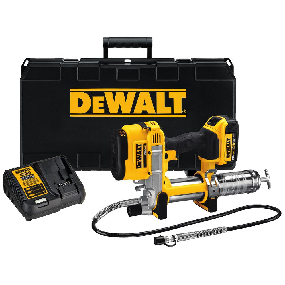 Electric Grease Gun Dewalt 20 Volt Max Lithium Ion Cordless Grease Gun Kit With Battery 4ah Charger And Kit Box