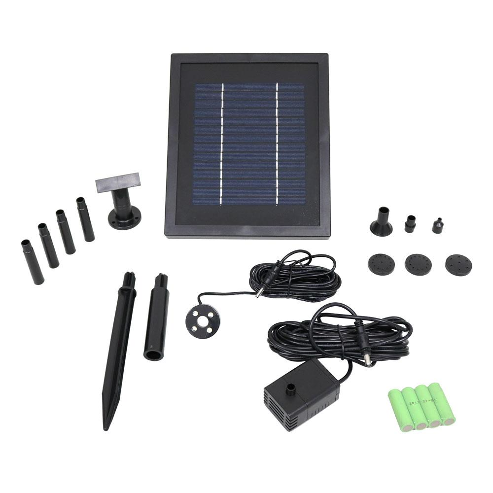 Solar Fountain Pump Sunnydaze Decor 65 Gph Solar Pump And Panel Kit With Battery Pack And Led Light
