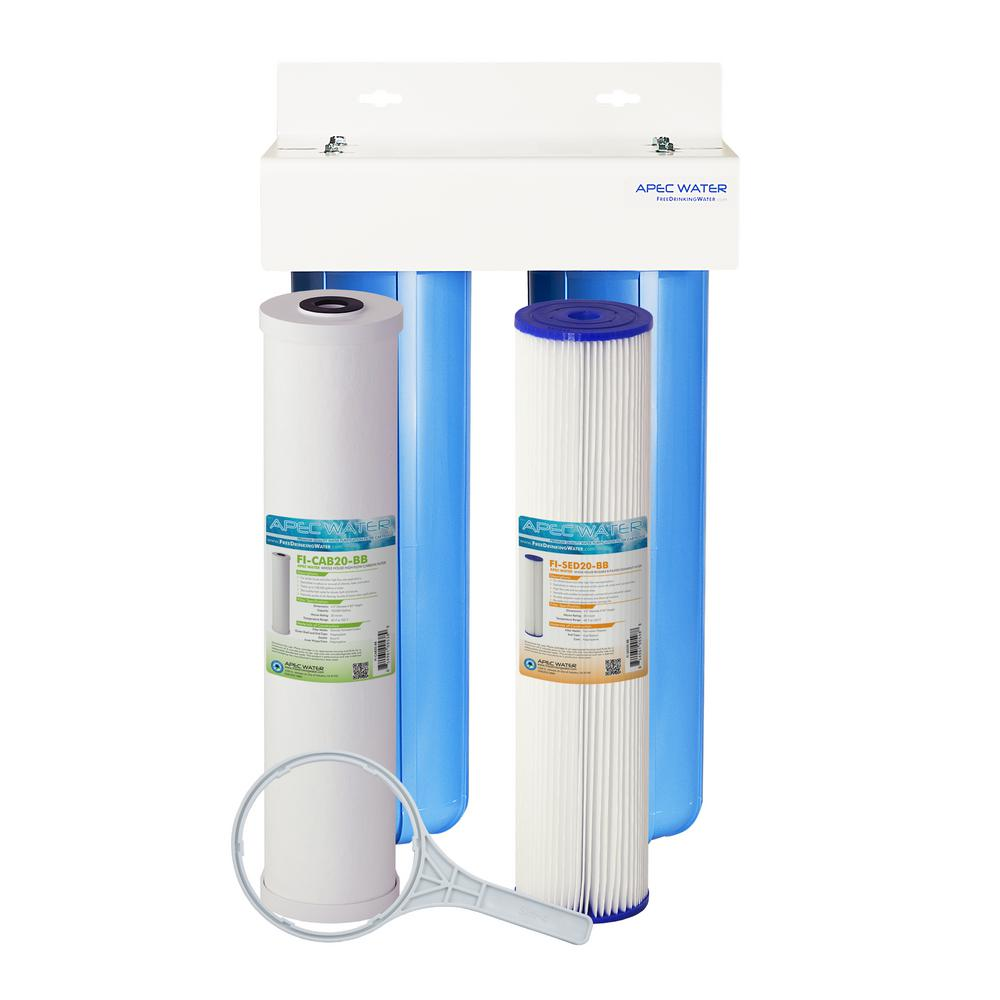 Carbon Water Filter System Apec Water Systems Whole House 2 Stage Water Filtration System High Capacity Sediment And Carbon For Multi Purpose