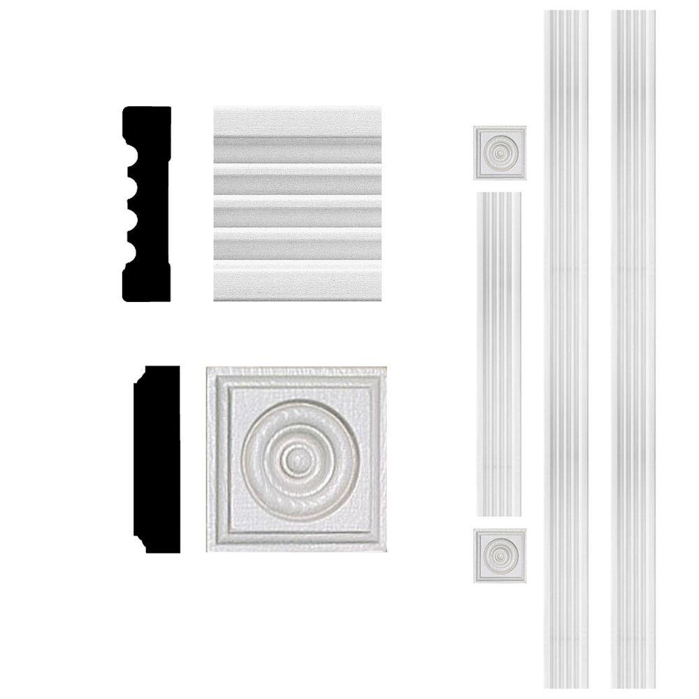 Home Depot Door Casing 3 4 In X 3 In X 8 Ft Mdf Fluted Door Casing Set