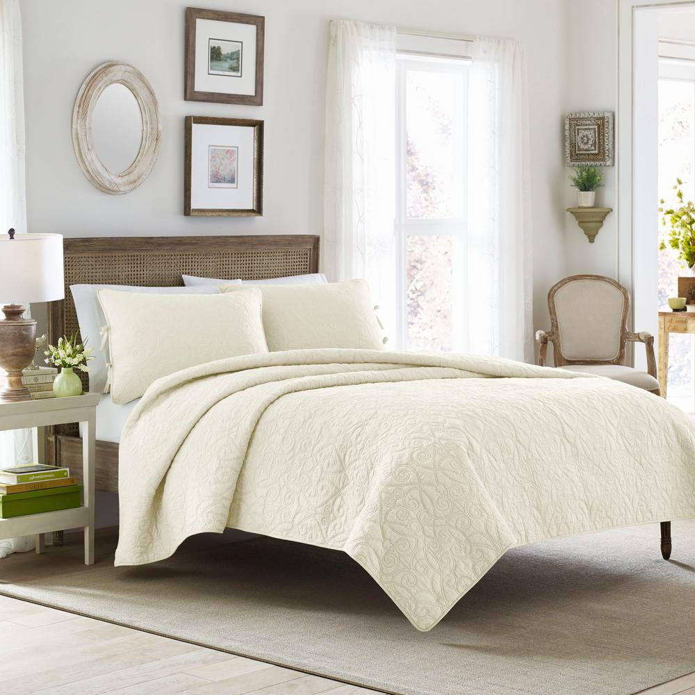 Quilt Sets Felicity 3 Piece Grey King Quilt Set