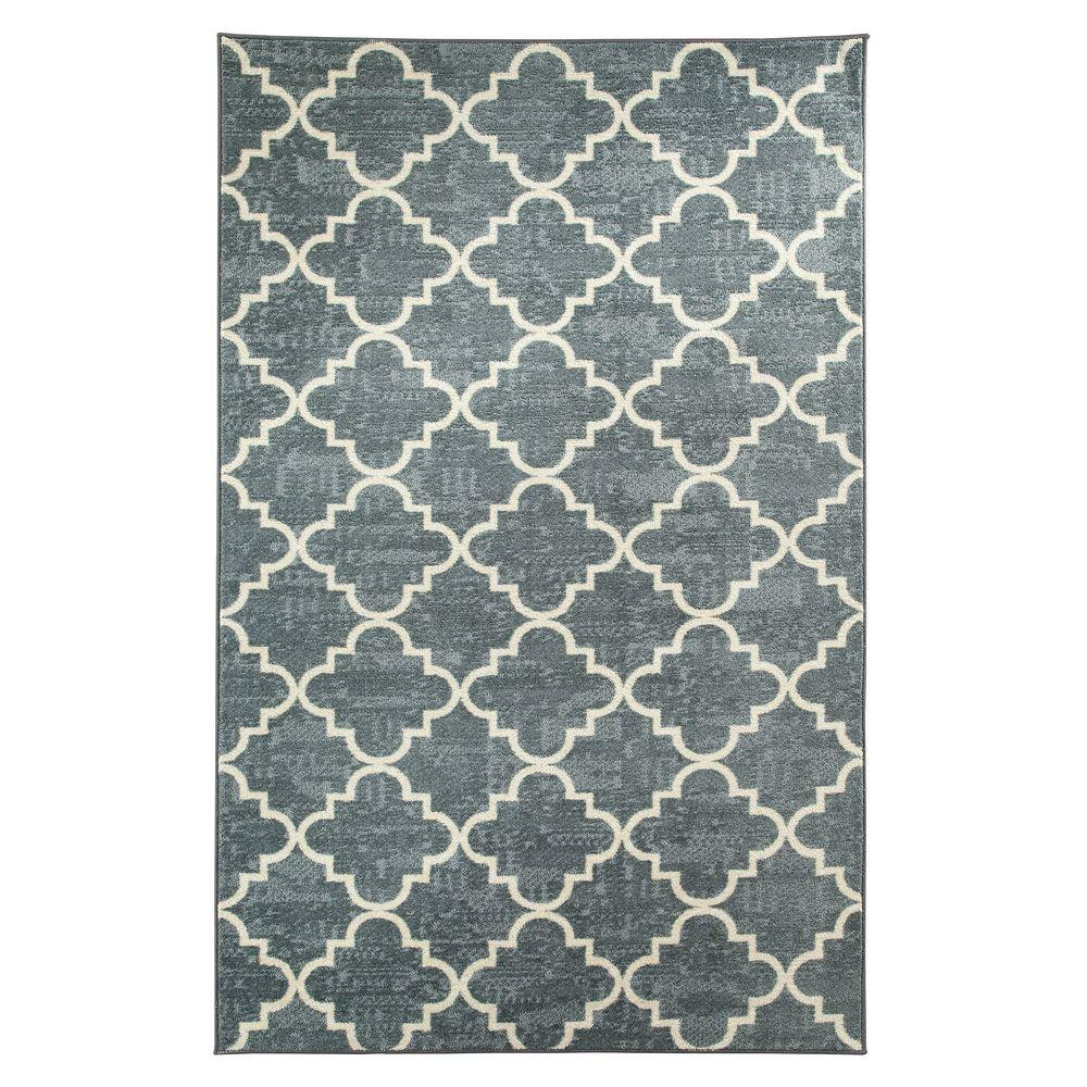 Mohawk Home Fancy Trellis Gray Printed 5 Ft X 8 Ft - Mohawk Rugs