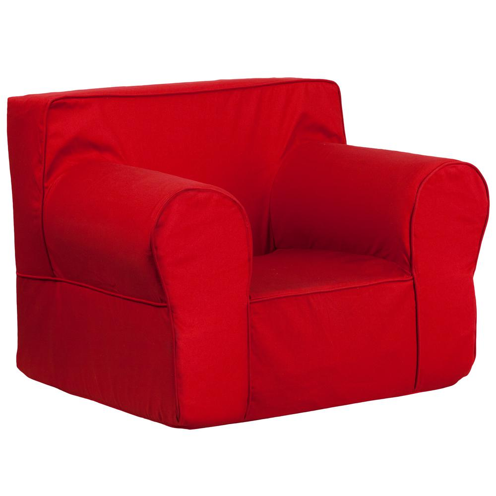 Flash Furniture Oversized Solid Red Kids Chair