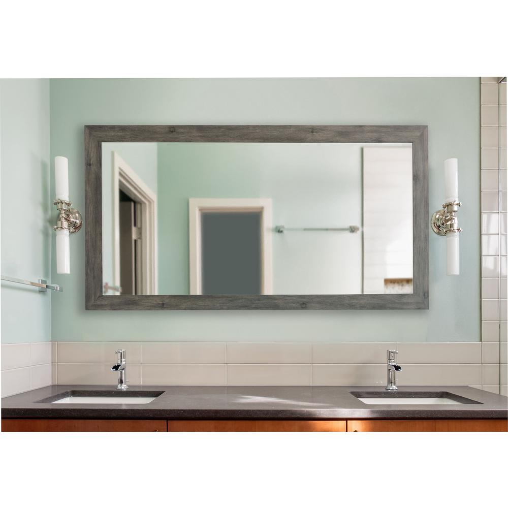 Large Wall Mirrors 78 In X 39 In Gray Barnwood Extra Large Vanity Mirror