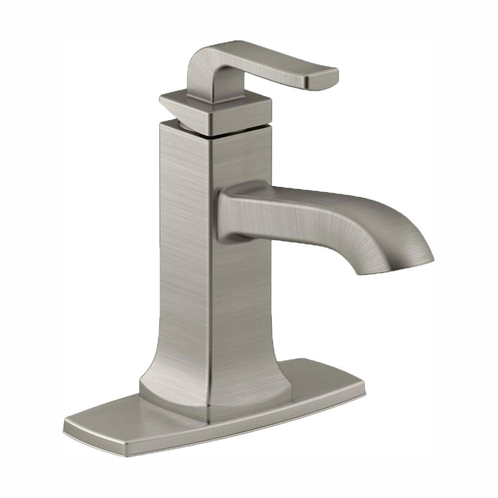 Bathroom Kohler Kohler Rubicon Single Hole Single Handle Bathroom Faucet In Vibrant Brushed Nickel
