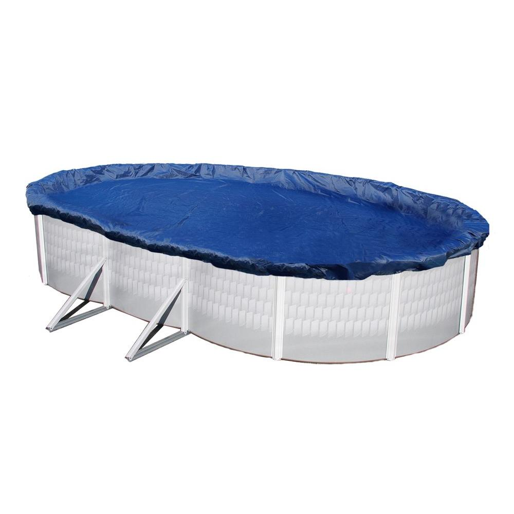 Above Ground Pool Winter Cover Blue Wave 15 Year 18 Ft X 38 Ft Oval Above Ground Winter Pool Cover