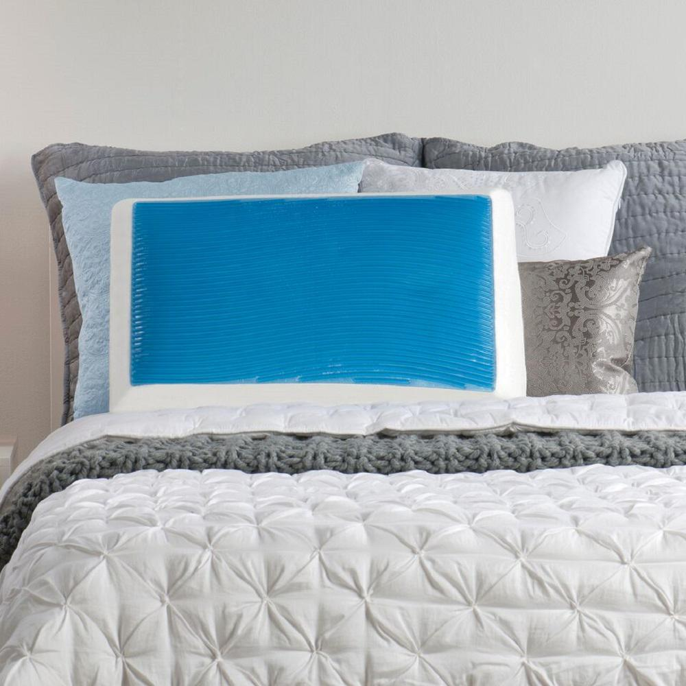 Standard Bed Pillows Details About Standard Bed Pillow Memory Foam Hydraluxe Gel Alleviate Pressure Muscle Relax