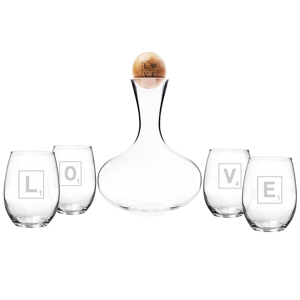 Decanter Wine Glas Love Letter Wine Decanter And Glass Set