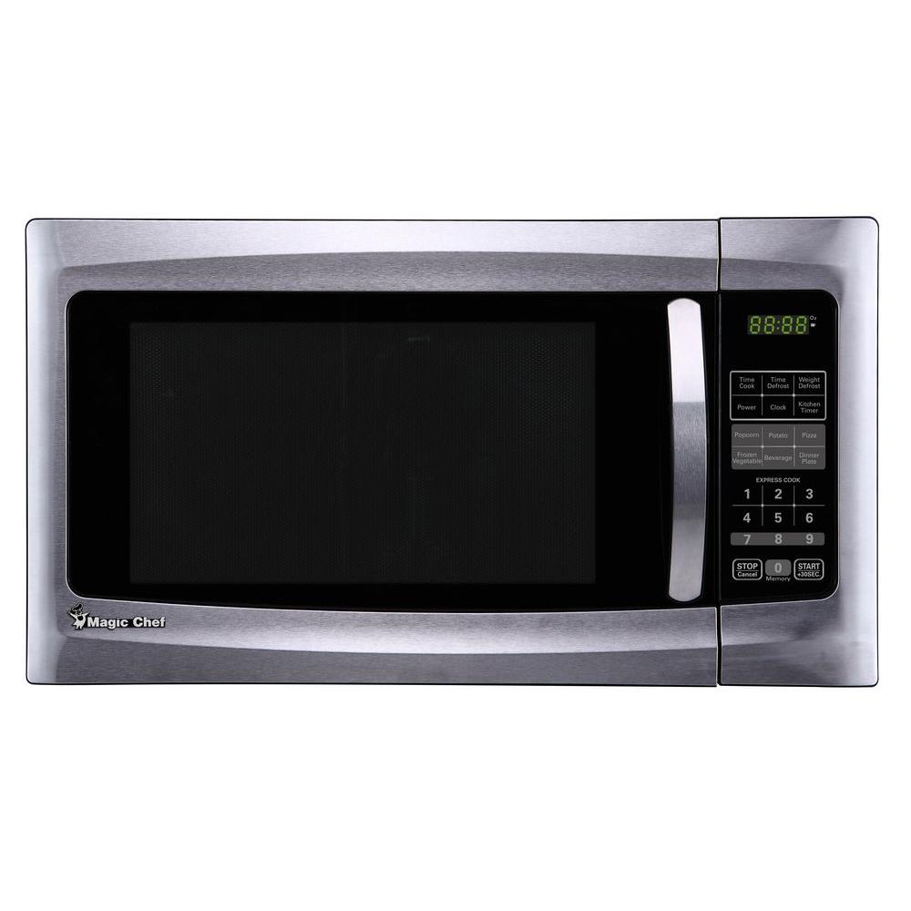 40 Libras A Kilos Magic Chef 1 6 Cu Ft Countertop Microwave In Stainless Steel
